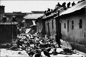 Bloody Partition of India BBC Picture The street was short and narrow. Lying like the garbage across the street and in its open gutters were bodies of the dead