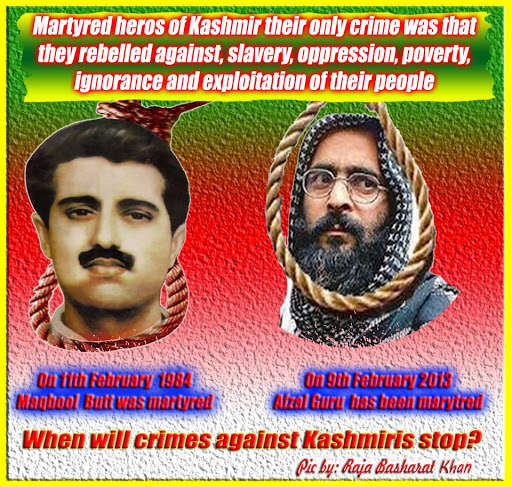 afzal guru and maqbool bhat -kashmiri leaders martyred